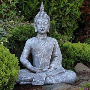 Grande statue de Bouddha assis de 65cm - Sculpture de décoration pour le salon - Taille XL de la marque Dszapaci image 0 produit