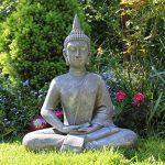 Grande statue de Bouddha assis de 65cm - Sculpture de décoration pour le salon - Taille XL de la marque Dszapaci image 4 produit