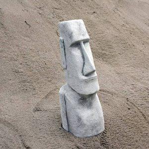 Grande statue Moai Pierre île de Pâques Tête visage en pierre Élément Décoration en fonte au gel de la marque gartendekoparadies.de image 0 produit