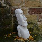 Grande statue Moai Pierre île de Pâques Tête visage en pierre Élément Décoration en fonte au gel de la marque gartendekoparadies.de image 4 produit