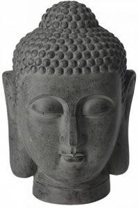 Grande tête de Bouddha Sculpture Ornement Intérieur ou extérieur Jardin Home Decor Pierre de la marque Gardening-Naturally image 0 produit