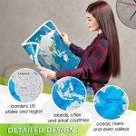 Grattez carte du monde par Leto TG–personnalisé de voyage tracker Poster–Bleu et Blanc avec nous des États-Unis, monde Pays + outils pour faciliter la suppression–Un cadeau idéal pour les voyageurs, décoration d'intérieur de la marque LETO TG image 3 produit