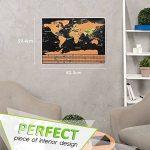 Grattez carte du monde par Leto TG–personnalisé de voyage tracker Poster–Noir et Doré avec nous des États-Unis, Pays du monde et Raye drapeaux + outils pour facile suppression–Cadeau parfait pour les voyageurs de la marque LETO TG image 4 produit