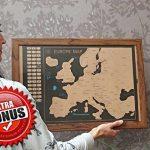 Grattez Cartes Cadeau Bundle–Scratch Off carte du monde (61x 42,7cm) + Scratch Off carte de l'Europe (46x 33cm)–détaillée carte du monde avec nous des États-Unis et de tous les pays drapeaux + détaillée carte Europe avec drapeaux de l'état et des image 6 produit