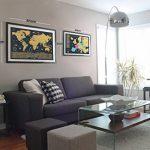 Grattez Cartes Cadeau Bundle–Scratch Off carte du monde (61x 42,7cm) + Scratch Off carte de l'Europe (46x 33cm)–détaillée carte du monde avec nous des États-Unis et de tous les pays drapeaux + détaillée carte Europe avec drapeaux de l'état et des image 1 produit