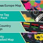 Grattez Cartes Cadeau Bundle–Scratch Off carte du monde (61x 42,7cm) + Scratch Off carte de l'Europe (46x 33cm)–détaillée carte du monde avec nous des États-Unis et de tous les pays drapeaux + détaillée carte Europe avec drapeaux de l'état et des image 3 produit