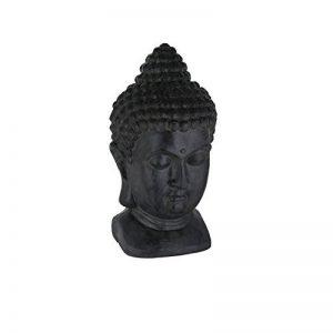 greemotion 124228Tête Bouddha décorative, 27x 25x 49cm, noir de la marque greemotion image 0 produit