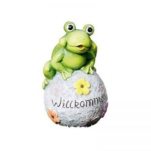 Grenouille de déco Willkommen, figurine de jardin drôle, terre cuite peinte de la marque amelex 67 image 0 produit