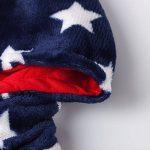 Grenouillère polaire USA stars and stripes, combinaison lounge, onesie pelucheux unisex, avec motif drapeau américain, étoiles et bandes de la marque Katara image 4 produit