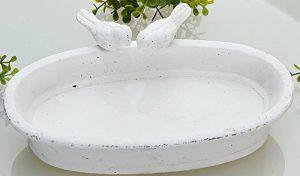 Guilde Abreuvoir pour oiseaux en gris pierre antique ovale Blanc 29,5cm de la marque Gilde image 0 produit