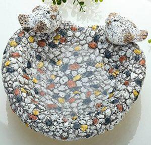 Guilde Abreuvoir pour oiseaux en pierre Design mosaïque, 25x 26x 13cm de la marque Gilde image 0 produit