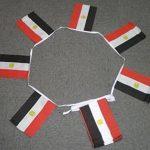 GUIRLANDE 6 mètres 20 DRAPEAUX EGYPTE 21x15 cm - DRAPEAU EGYPTIEN 15 x 21 cm - AZ FLAG de la marque AZ FLAG image 1 produit