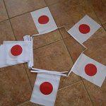 GUIRLANDE 6 mètres 20 DRAPEAUX JAPON 21x15 cm - DRAPEAU JAPONAIS 15 x 21 cm - AZ FLAG de la marque AZ FLAG image 1 produit