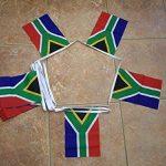 GUIRLANDE 6 mètres 20 DRAPEAUX AFRIQUE DU SUD 21x15 cm - DRAPEAU SUD AFRICAIN 15 x 21 cm - AZ FLAG de la marque AZ FLAG image 1 produit