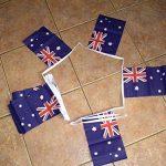 GUIRLANDE 6 mètres 20 DRAPEAUX AUSTRALIE 21x15 cm - DRAPEAU AUSTRALIEN 15 x 21 cm - AZ FLAG de la marque AZ FLAG image 1 produit