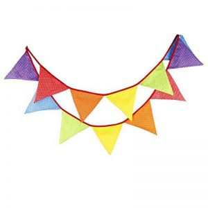 Guirlande de Fanions Bannière Banderole en Coton 12 Drapeau Triangle Double Face Décor pour Noël Halloween Fête D'anniversaire Mariage et Cérémonie Party de la marque WMAOT image 0 produit