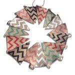 Guirlande de fanions en toile de jute G2Plus de 2,80m - Drapeaux double-face de style rétro - Idéal pour la décoration de mariage ou pour une fête de la marque G2PLUS image 1 produit