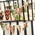 Guirlande de fanions en toile de jute G2Plus de 2,80m - Drapeaux double-face de style rétro - Idéal pour la décoration de mariage ou pour une fête de la marque G2PLUS image 3 produit