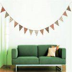 Guirlande de fanions en toile de jute G2Plus de 2,80m - Drapeaux double-face de style rétro - Idéal pour la décoration de mariage ou pour une fête de la marque G2PLUS image 4 produit