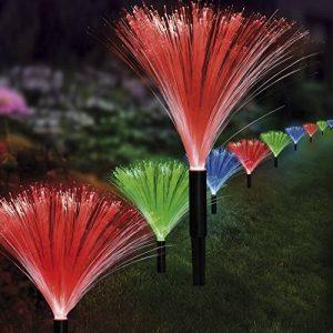 Guirlande lumineuse LED à énergie solaire Fontaine avec 4paramètres: vacillement, clignotement, fixe, lumière lampe en fibre de verre (fibre de fibre de verre Fiber Lampe) de la marque EASYmaxx image 0 produit