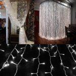 Guirlande Rideau Lumineux ,300 LEDs 3M x 3M Lumières Féériques Fenêtre Lumineux LED 8 Modes de Fonctionnement Décoration pour Soirée de Mariage et Noël, Cour,Jardin de la marque HanLuckyStars image 3 produit