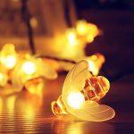 Guirlandes Lumineuses Solaires 30 LED 6.5 Mètre Lumineuse Imperméable Abeille Décoration Intérieure et Extérieure pour Noël, Mariage, Jardin, Soirée et Cérémonie (Blanc Chaud) de la marque Skitic image 2 produit