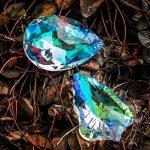 H & D 2pcs 76mm Feuilles d'érable en forme de larme et Bauhinia Pendentif Crystal Prism Soleil anti-gouttes de la marque Inconnu image 2 produit
