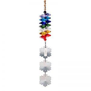 H & D 25mm Lustre Cristal Pendentif Perle flocon de neige cafetière arc-en-ciel chakra Cascade Mobile Attrape-Soleil de la marque Inconnu image 0 produit