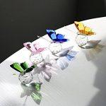 H & D Cristal Flying Papillon avec boule de cristal Base figurine Collection en verre taillé Ornement Statue Animal Collection Lot de 4 de la marque Inconnu image 3 produit