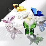 H & D Cristal Flying Papillon avec boule de cristal Base figurine Collection en verre taillé Ornement Statue Animal Collection Lot de 4 de la marque Inconnu image 2 produit