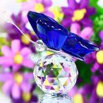 H & D Cristal Flying Papillon avec boule de cristal Base figurine Collection en verre taillé Ornement Statue Animal Collection Lot de 4 de la marque Inconnu image 4 produit