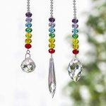 H&D Lot de 3attrape-soleil décoratifs à suspendre Prismes en cristal arc-en-ciel style 3 de la marque Inconnu image 2 produit