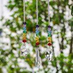 H&D Lot de 3attrape-soleil décoratifs à suspendre Prismes en cristal arc-en-ciel style 3 de la marque Inconnu image 3 produit