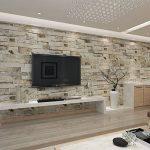 HANMERO Papier Peint Motif de Brique Pierre Vinyle 3D pour Chambre Salon TV Fond---0.53M* 10M---4 Couleurs au Choix de la marque HANMERO image 1 produit