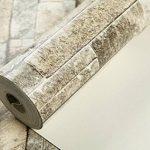 HANMERO Papier Peint Motif de Brique Pierre Vinyle 3D pour Chambre Salon TV Fond---0.53M* 10M---4 Couleurs au Choix de la marque HANMERO image 4 produit