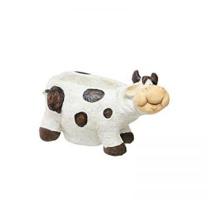 Happy Green 46361 Cache-Pot Vache Résine Blanc 30 x 25 x 10 cm de la marque Happy Green image 0 produit