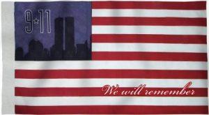 Heath Outdoor # 29112Made in USA 9–11commémorative de Bannière Drapeau, 2–1/2par 4pieds Bannière Drapeau, Poly Coton de la marque Heath-Outdoor-Products image 0 produit