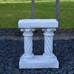 Herrlicher Culot surélevé sur deux piliers pour Statues ou pflanzgefäße en pierre au gel de la marque gartendekoparadies.de image 4 produit