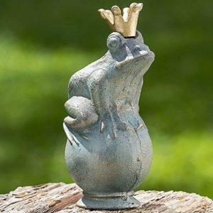 Home Collection Accessoires, décoration intérieure et extérieure - jardin - grenouille reine - matériel: fonte vert - 22 cm de la marque Home Collection image 0 produit