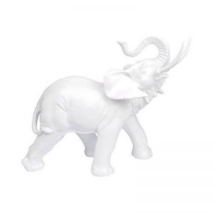 Homea Jardin 5DEJ1130BC Statuette d' Animal Elephant Résine Blanc 37,5 x 16 x 30,5 cm de la marque Homea Jardin image 0 produit