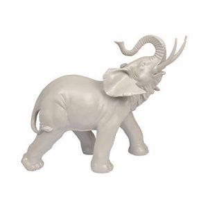 Homea Jardin 5DEJ1130TA Statuette d' Animal Elephant Résine Taupe 37,5 x 16 x 30,5 cm de la marque Homea Jardin image 0 produit