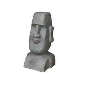 Homea Jardin 5DEJ1159 Statue de Jardin Moai Argile Fibreuse Fibre D'Argile Gris 28 x 27 x 51 cm de la marque Homea Jardin image 0 produit