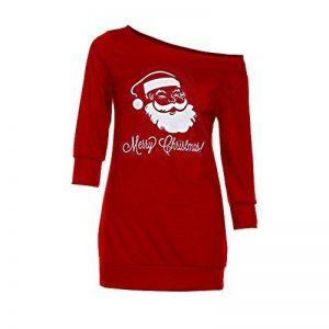 Homebaby Femmes Robe Noël Père Noël Robe Jupe Longue Bretelles Robe Rouge (L) de la marque Homebaby image 0 produit