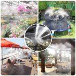HomeNote Système d'irrigation Système de brumisateur extérieur Système de refroidissement par eau réglable Système de gicleurs avec de l'eau finement atomisée pour les jardins de serre, la piscine, la tonnelle (8 mètres) de la marque HomeNote image 1 produit