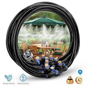 HomeNote Système d'irrigation Système de brumisateur extérieur Système de refroidissement par eau réglable Système de gicleurs avec de l'eau finement atomisée pour les jardins de serre, la piscine, la tonnelle (8 mètres) de la marque HomeNote image 0 produit