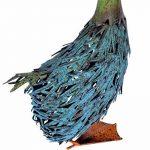 Homescapes Décoration de jardin Oie en métal Bleu H 41 cm de la marque Homescapes image 2 produit