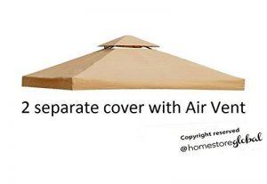 HomeStore Global, Toile de toit de rechange pour tonnelle 3m x 3m - Toile de protection et résistante aux UV - Camel de la marque HomeStore Global image 0 produit