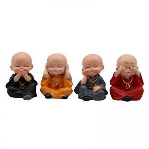 Homyl 4x Bouddha Statue Figurine Kung Fu Statuette Voiture Maison Décor Noël Cadeau de la marque Homyl image 0 produit