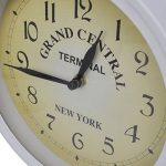 Horloge de gare blanche retro double face New York de la marque vidaXL image 2 produit