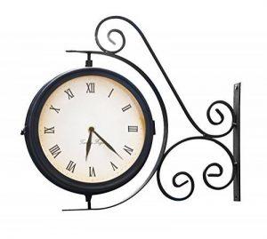 Horloge de Gare Extérieur pivotante avec Thermomètre – 31.5cm de la marque Primrose image 0 produit
